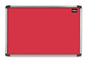 Nobo Elipse Felt Notice Board 900mm x 1200mm - Red
