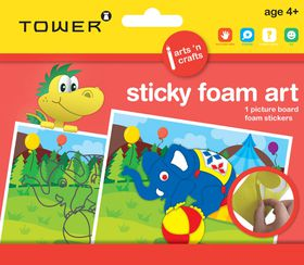 Tower Kids Sticky Foam Art - Elephant