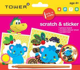 Tower Kids Scratch & Sticker - Elephant