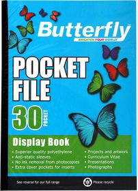 Butterfly Pocket File A4 - 30 Page