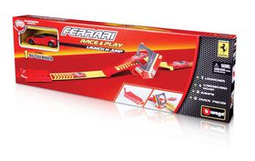 Bburago 1/43 Ferrari Race & Play Jump with Launcher & 1 Car