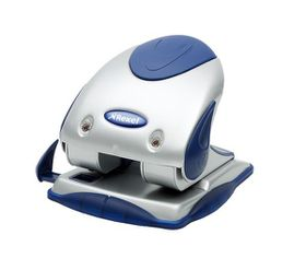Rexel P240 2 Hole Punch - Silver/Blue