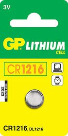 GP Batteries 3V CR1216 Lithium Coin Battery
