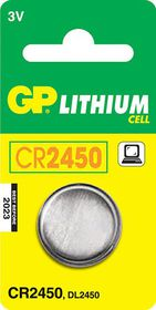 GP Batteries 3V CR2450 Lithium Coin Battery