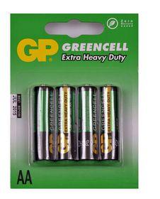 GP Batteries 1.5V AA Carbon Zinc Green Cell Batteries