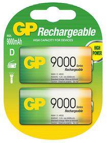 GP Batteries 1.2V D 9000 mAh NiMH Rechargeable Batteries