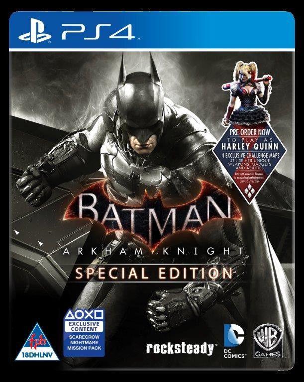 Pre Order Ps4 Batman Arkam Knight Special Edition Console