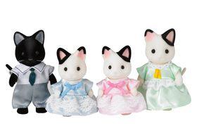 Sylvanian Family Tuxedo Cat Family