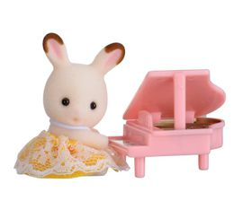 Sylvanian Family Baby Carry Case with Pink Piano - Rabbit