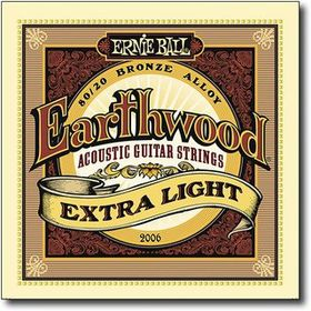 Ernie Ball 2006 Earthwood Extra Light 80/20 Bronze Acoustic String Set (10 - 50)