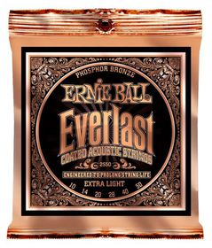 Ernie Ball 2550 Everlast Acoustic Guitar Strings Phosphor Bronze - Light (10 - 50)