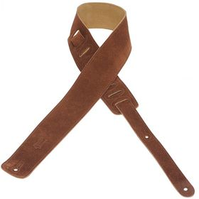 "Levy LLMS1BRN MS1 2.5"" Suede Leather Guitar Strap - Brown"