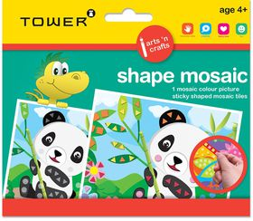 Tower Kids Shape Mosaic - Panda Bear
