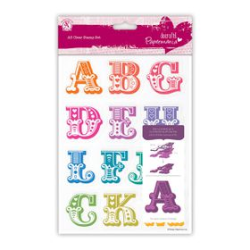 Docrafts Papermania A5 Clear Stamp Set - Carnival Alphabet A - M
