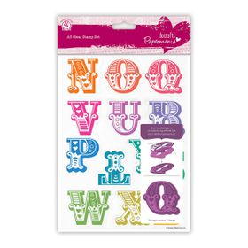 Docrafts Papermania A5 Clear Stamp Set - Carnival Alphabet N - Z