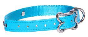 Rogz Lapz 13mm Small Luna Pin Buckle Dog Collar - Blue