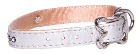 Rogz Lapz 13mm Small Luna Pin Buckle Dog Collar - Ivory