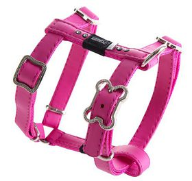 Rogz Lapz 13mm Small Luna Adjustable Dog H-Harness - Pink