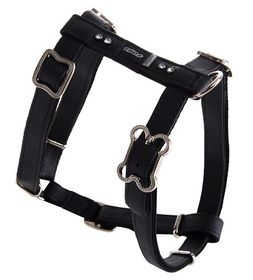 Rogz Lapz 16mm Medium Luna Adjustable Dog H-Harness - Black