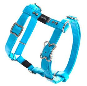 Rogz Lapz 16mm Medium Luna Adjustable Dog H-Harness - Blue