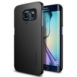 Spigen Case Thin Fit for Samsung S6 Edge - Smooth Black