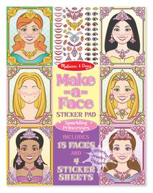 Melissa & Doug Make a Face Sparkling Princess
