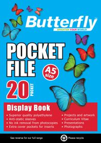 Butterfly Pocket File A5 - 20 Page