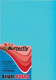 Butterfly A4 Bright Board 50s - Blue