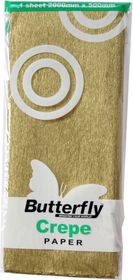 Butterfly Crepe Paper 1 Sheet - Gold (C38)