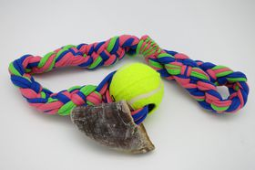 MCP - Rope Toy Cotton Sling Ball & Hoof