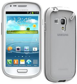 PureGear Slim Shell Case for Samsung S3 Mini - Clear/White