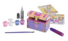 Melissa & Doug Princess Chest Decorate Your Own