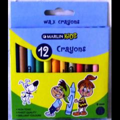 Marlin Kids 12 8mm Wax Crayons