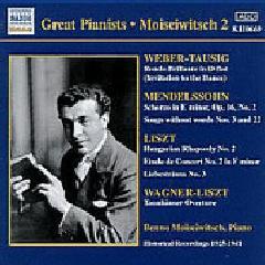 Benno Moiseiwitsch - Plays Weber - Tausig, Mendelssohn & Liszt 1925-1941 (CD)
