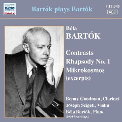 Bartok, Bela - Bartok Plays Bartok (CD)
