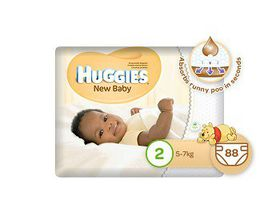 Huggies - New Baby - Size 2 x 88 Nappies (5-7kg)