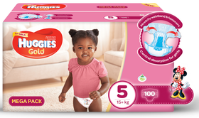 Huggies - Gold Girl - Size 5 - 100 Nappies