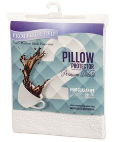 Protect-A-Bed - Premium Delu xe Pillow Protector - Size: Standard