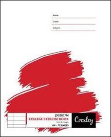 Croxley JD328 72 Page A4 F&M Exercise Book (140 Pack)