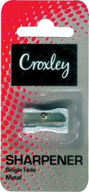 Croxley Single Hole Metal Pencil Sharpener Blister Card