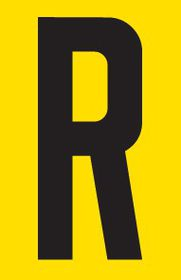 Tower Adhesive Letter Sign - Small R