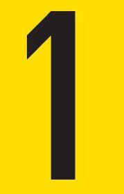 Tower Adhesive Number Sign - Medium 1