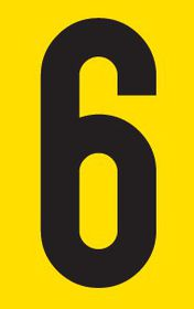 Tower Adhesive Number Sign - Medium 6