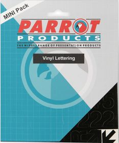 Parrot 20mm Vinyl Lettering Capitals - Red
