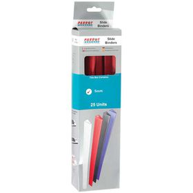 Parrot Slide Binders A4 5mm - Red (Pack of 25)