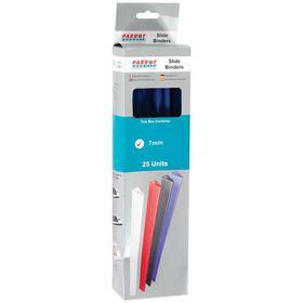 Parrot Slide Binders A4 7mm - Blue (Pack of 25)