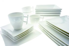Maxwell and Williams - Basics East Meets West 20 Piece Dinner Set - White