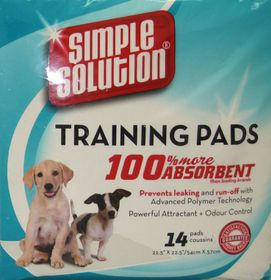 Simple Solution - Training Pads - 14 Pack
