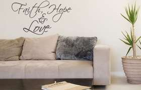 Fantastick - Faith - Hope and Love Vinyl Wall Poetry