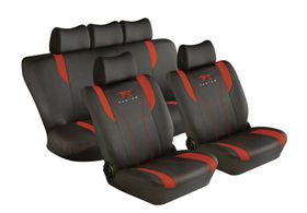 Stingray - Racing 11 Piece Car Seat Cover Set - Red